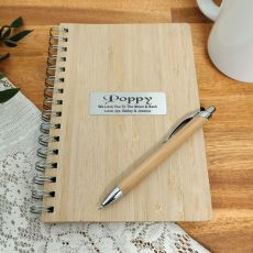 Poppy Bamboo Notepad and Pen