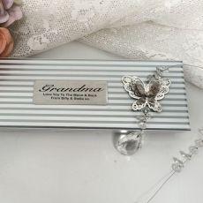 Personalised Grandma Butterfly  Suncatcher