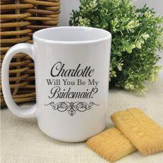 Personalised Bridesmaid White Coffee Mug 15oz