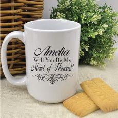 Will You Be My Maid Of Honour White Coffee Mug