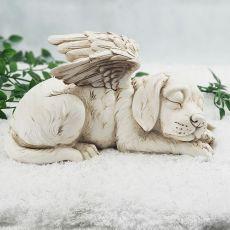 Dog Memorial Angel Stone Garden Statue