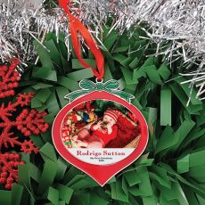 Babies 1st Christmas Red Bauble Ornament