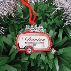 Babies 1st Christmas Caravan Ornament