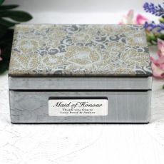 Maid of Honour Jewellery Box Mirrored Golden Glitz