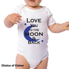 Love You To The Moon Baby Bodysuit