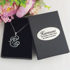 New Mum & Baby Stainless Steel Necklace in Personalised Box