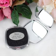 Mum Personalised Glitter Compact Mirror