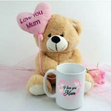 Love Mum Coffee Mug and Bear Set