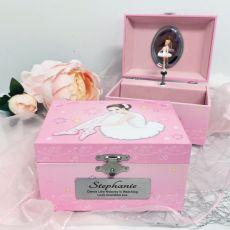 Personalised Ballerina Music Jewelley Box