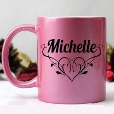 Personalised Coffee Mug -Pink
