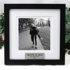 Personalised Instagram Photo Frame 5x5 White/Black Wood