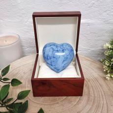 Memorial keepsake Heart Urn For Ashes Blue