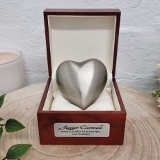 Baby Memorial keepsake Urn For Ashes Pearl Pewter Heart