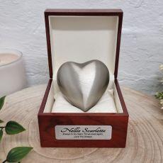 Memorial keepsake Urn For Ashes Pewter Heart