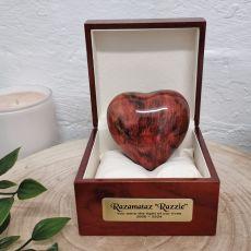 Pet Memorial keepsake Wood Heart Urn For Ashes