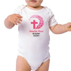 Personalised Baby Girl Baptism Bodysuit
