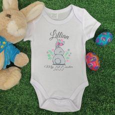 Personalised Easter Bodysuit - Heart Rabbit