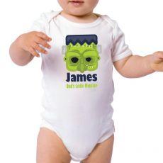Personalised Halloween Baby Bodysuit- Monster