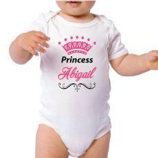 Personalised Princess Baby Bodysuit