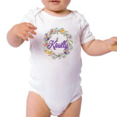 Personalised Halloween Baby Bodysuit- Witch