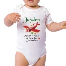 Made it in time - Personalised Christmas Bodysuit