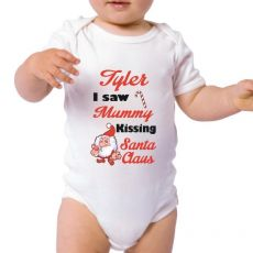 I saw Mummy Personalised Christmas Bodysuit