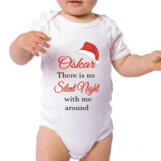 Silent Night Personalised Christmas Bodysuit