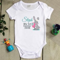 Personalised 1st Easter Bodysuit - Hunter Bunny Pink