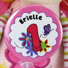 1st Birthday Personalised Flower Badge