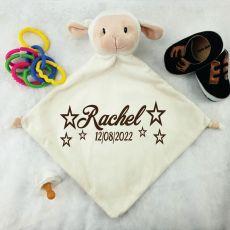 Personalised Baby Security Comforter Blanket - Lamb