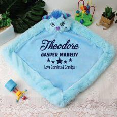 Personalised Blankie / Travel Cushion - Monster