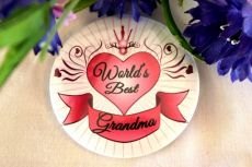 Worlds Best Grandma Badge