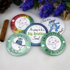 Brother To Be Baby Shower Badge