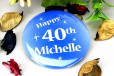 Personalised 40th Blue Star Badge