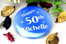 Personalised 50th Blue Star Badge