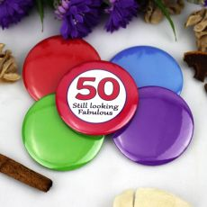 50th Birthday Party Badge