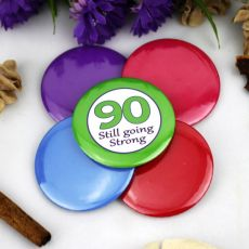 90th Birthday Party Badge