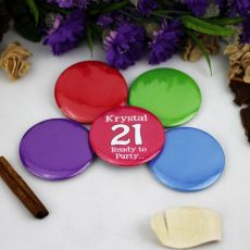 Personalised 21st Birthday Party Badge
