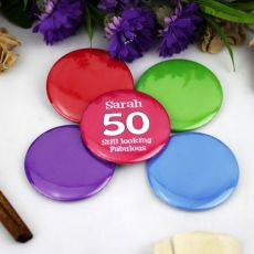 Personalised 50th Birthday Party Badge