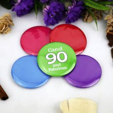 Personalised 90th BirthdayParty Badge