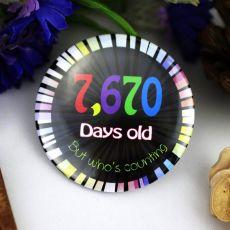 Days of Age 21st Birthday Badge