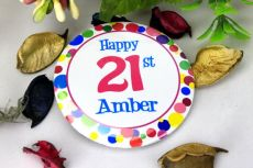 Personalised 21st Party Badge