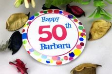 Personalised 50th Party Badge