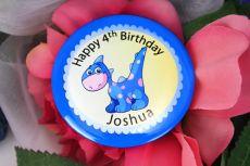 Personalised Dinosaur Birthday Badge - Any Age