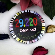 Humorous 80th Birthday Badge