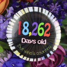 Humorous 50th Birthday Badge