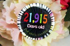 Humorous 60th Birthday Badge