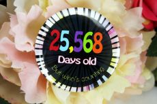 Humorous 70th Birthday Badge