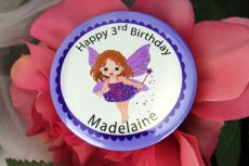Personalised Fairy Birthday Badge - Any Age