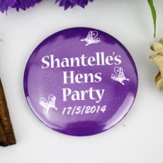 Personalised Hens Party Badge Butterfly